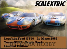 Ford GT40 - GULF - 3pack Limited Edition